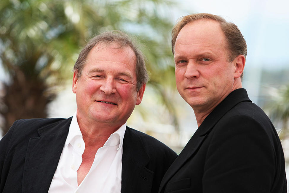 Burghart Klaussner and Ulrich Tukur at the White Ribbon photocall during the 62nd International Cannes Film Festival in France.